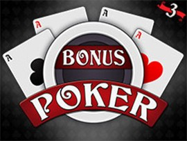Bonus Poker - 3 Hands