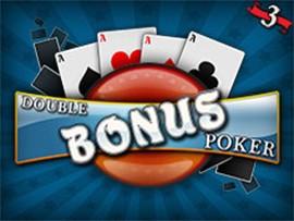 Double Bonus Poker - 3 Hands