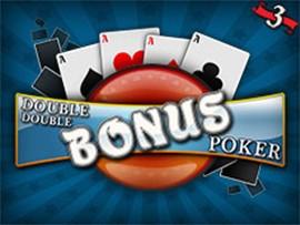 Double Double Bonus Poker - 3 Hands