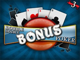 Double Double Bonus Poker - 3 Hands