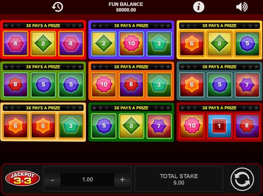 Spielen Sie Rainbow 3x3 Kostenlos Im Demo Mode Von 1X2 Gaming