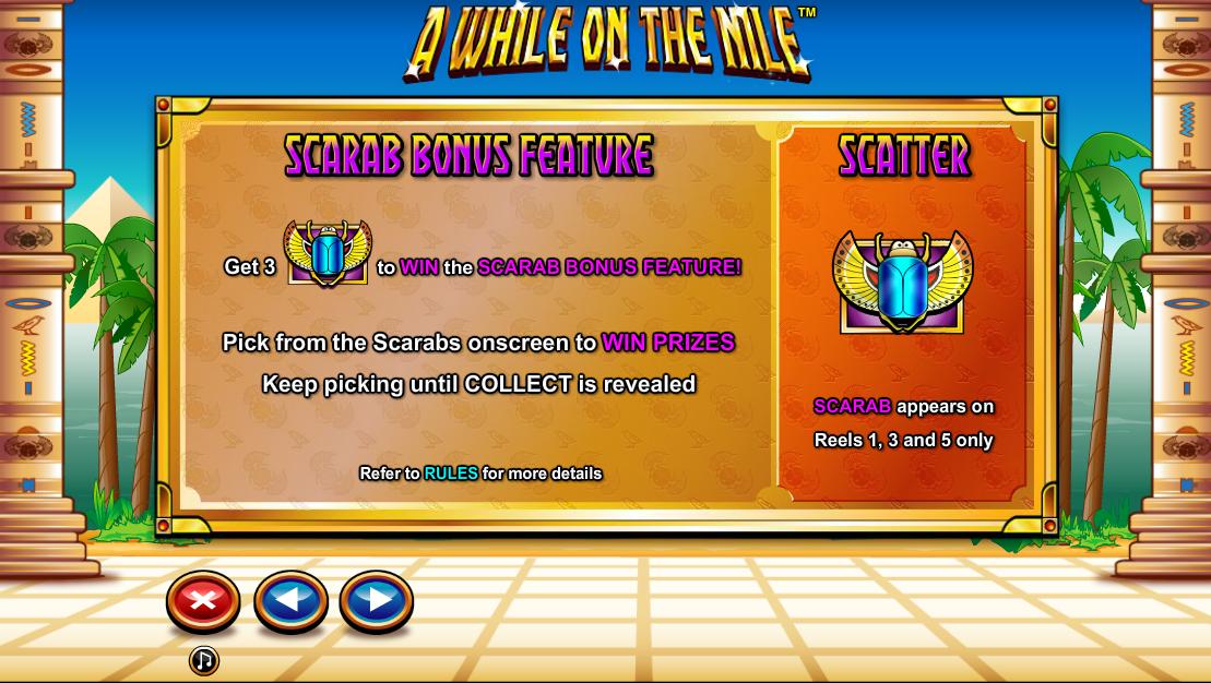 Scarab Bonus feature