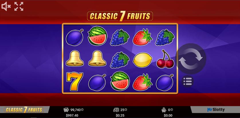 Spielen Sie Wild 7 Fruits kostenlos im Demo Mode von MrSlotty