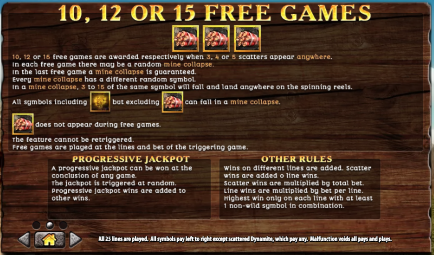 Bonus games rules