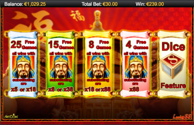 Free spins extra choice