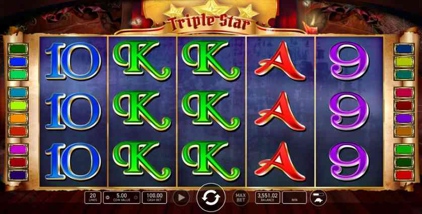 Play Tripple Star Free Online Slot Machine With No Download Required!