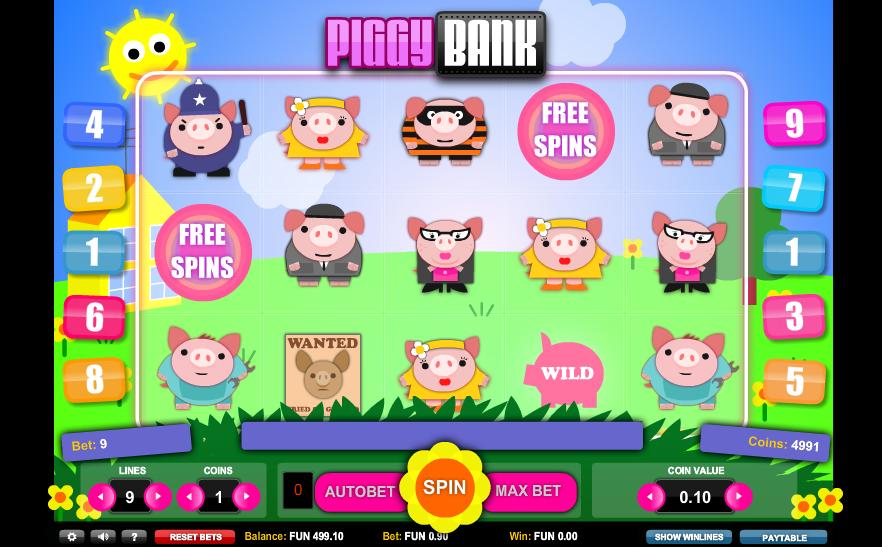 Piggy bank symbols