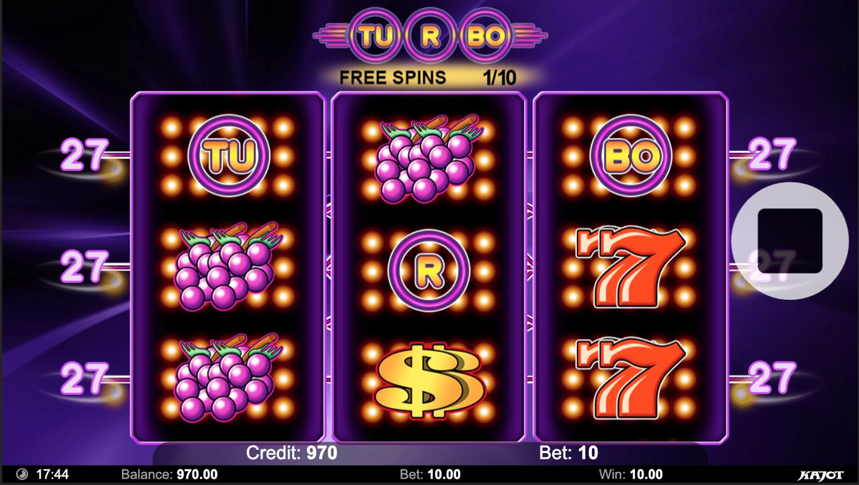 Turbo 27 free spins bonus