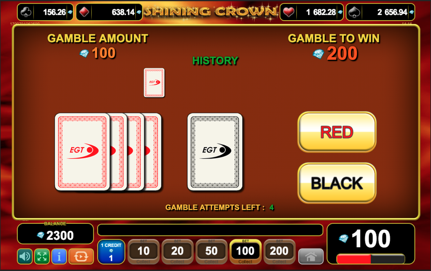 Shining Crown gamble function