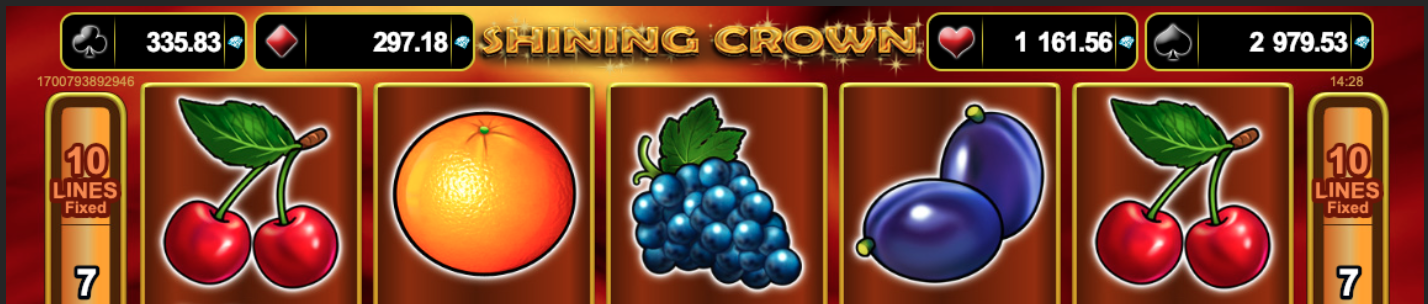 Jackpots in Shining Crown