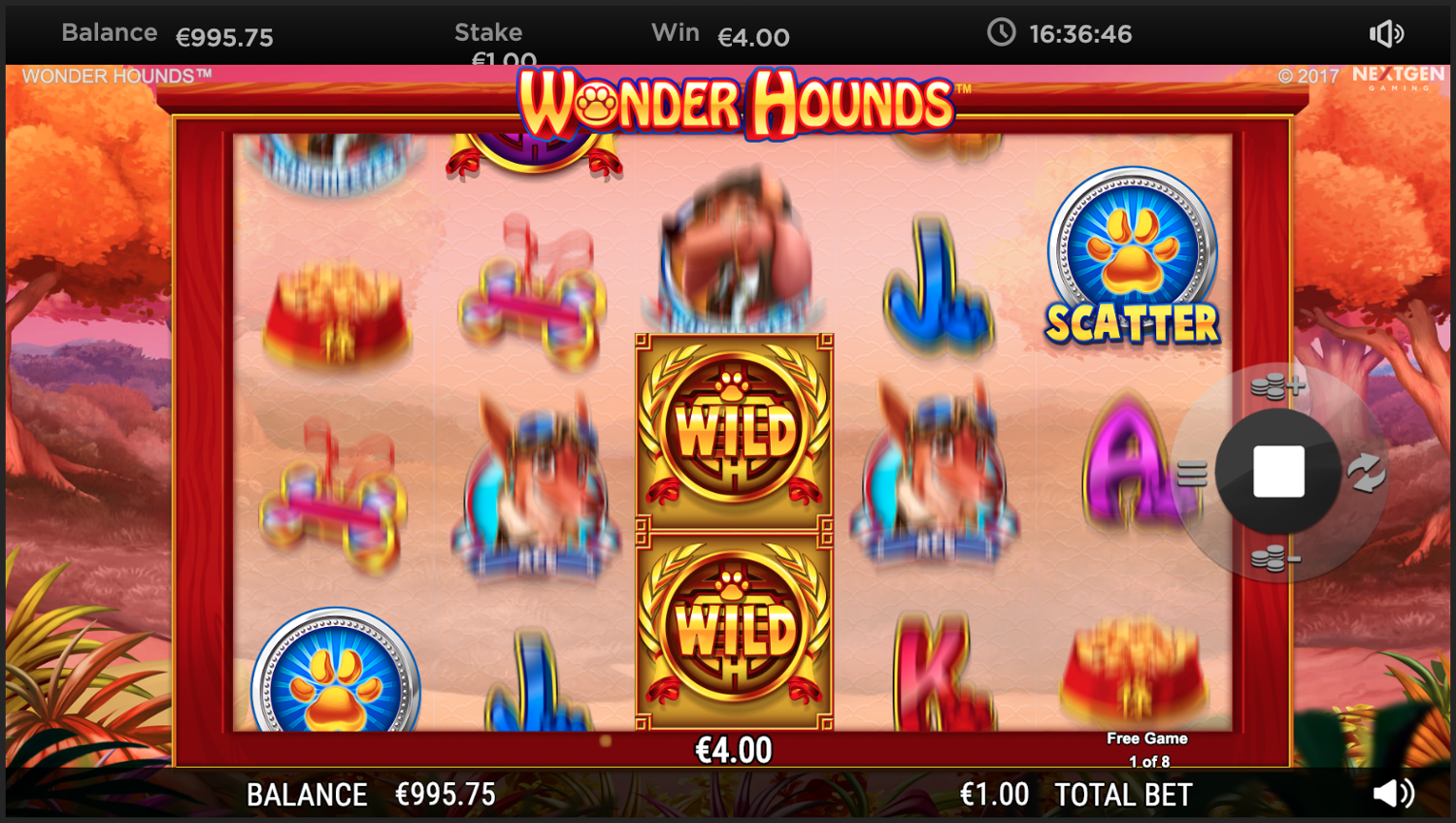 Free spins feature - locked wilds