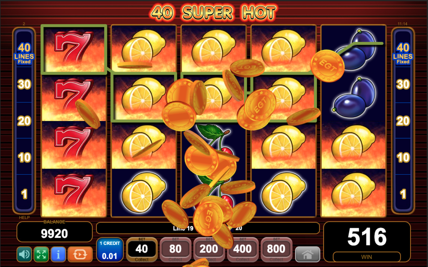 40 super hot slot free play