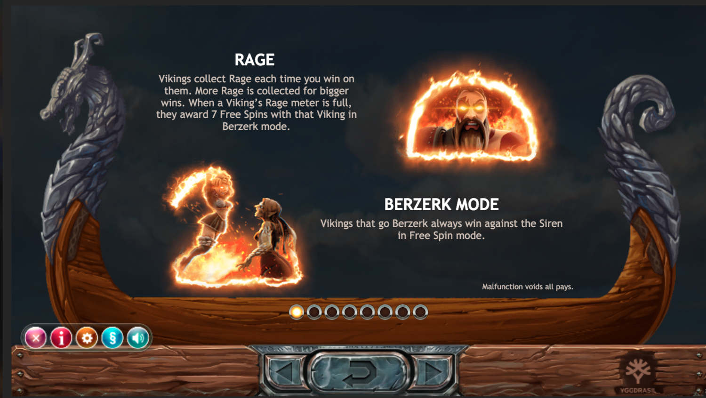 Vikings Go Berzerk rage bonuses