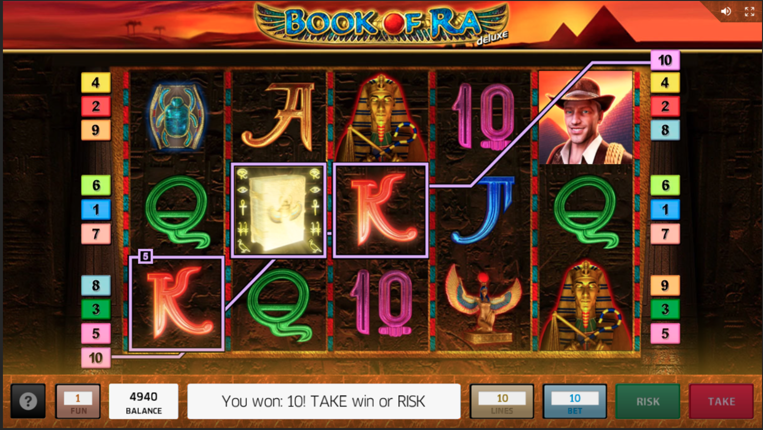 Book of Ra Deluxe win