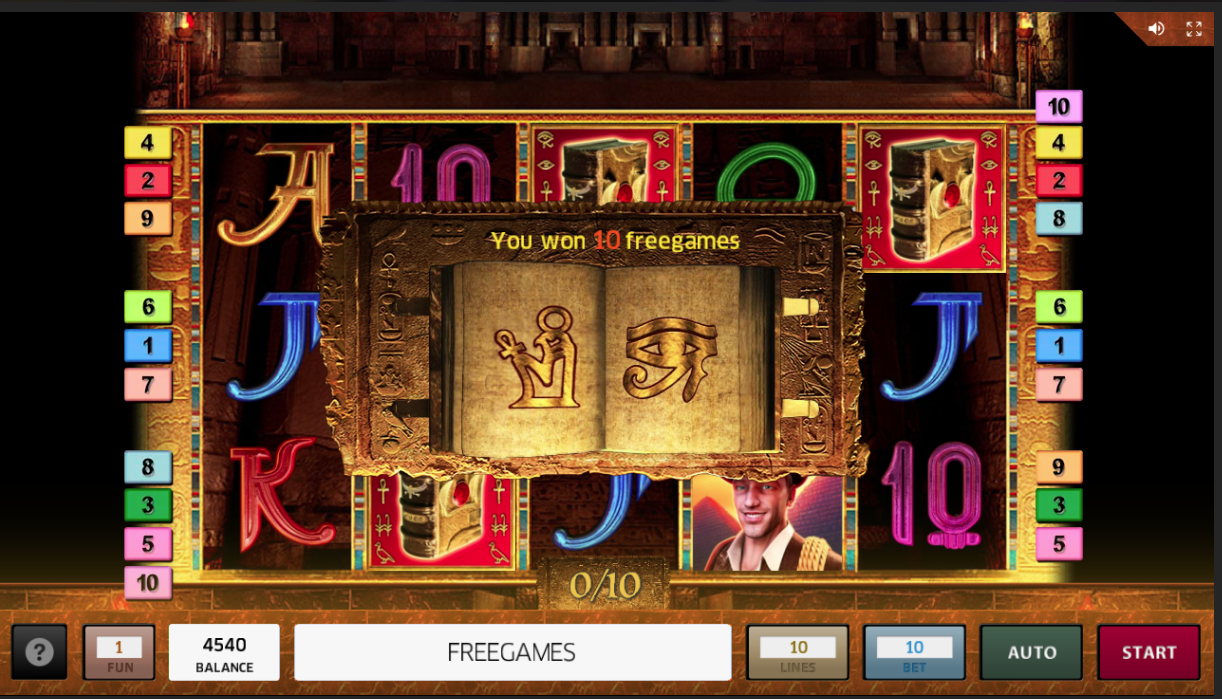 Book of Ra Deluxe Free Spins special symbol
