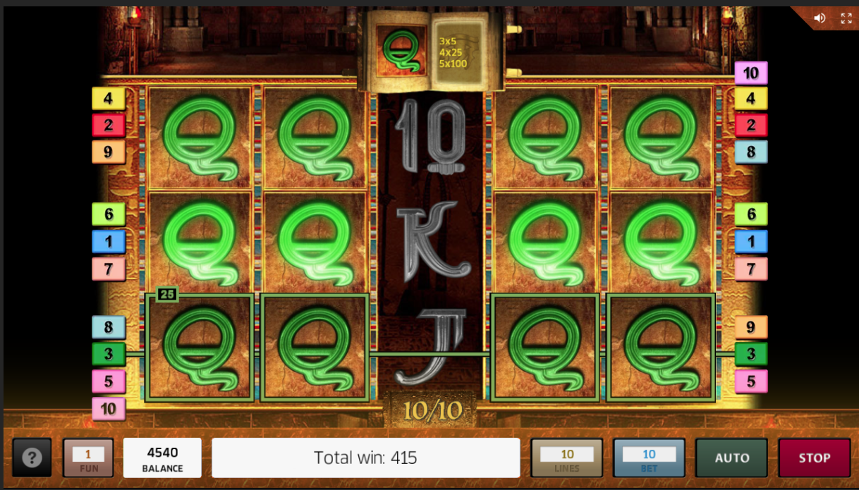 Book of Ra Deluxe expanded symbol free spins