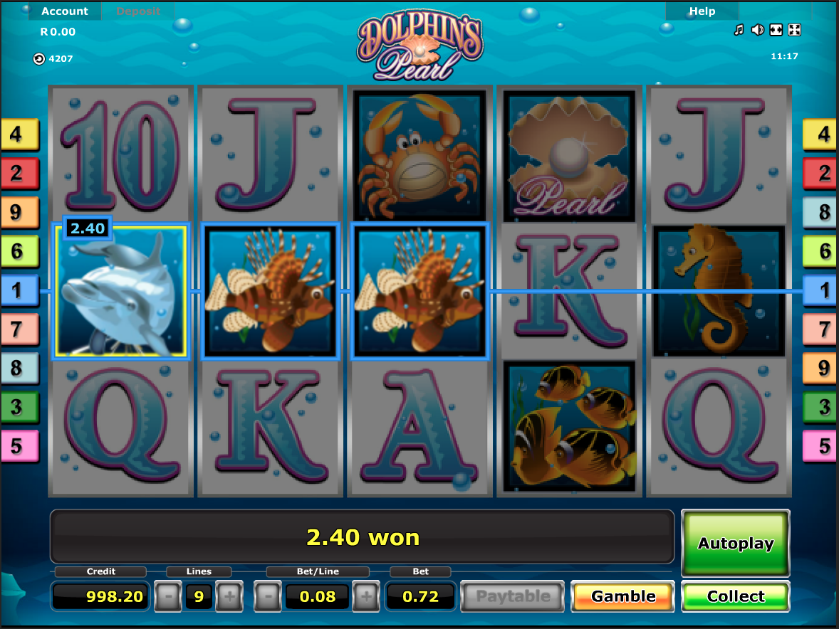 Dolphin's Pearls simple win