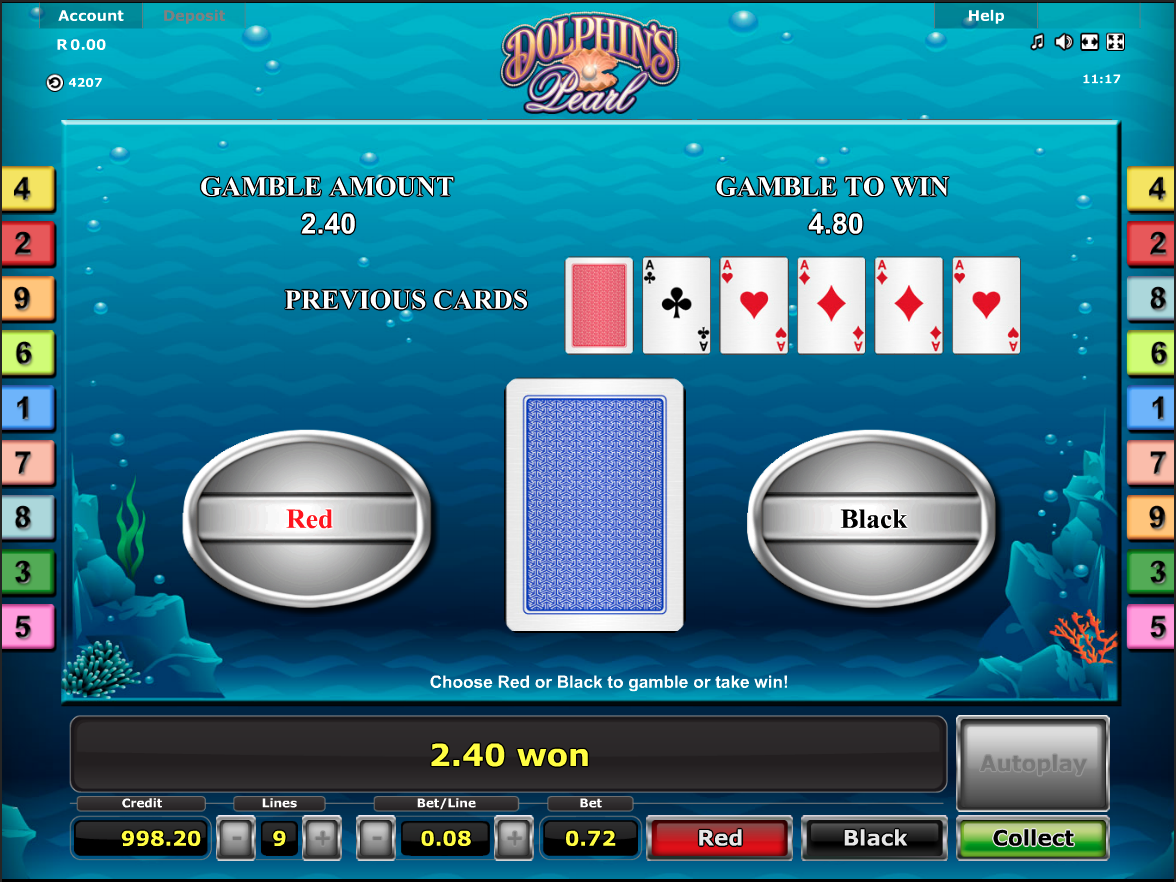 Dolphin's Pearls gamble function