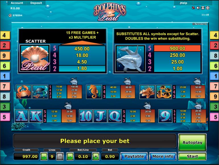 Juegos Casino Dolphin Pearl