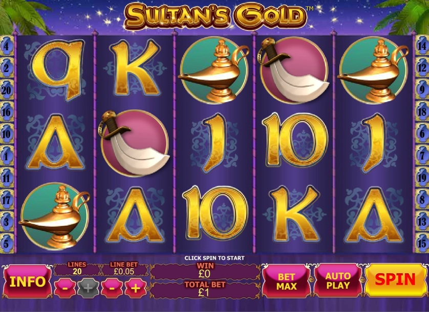 Play Free Sultan's Gold Game