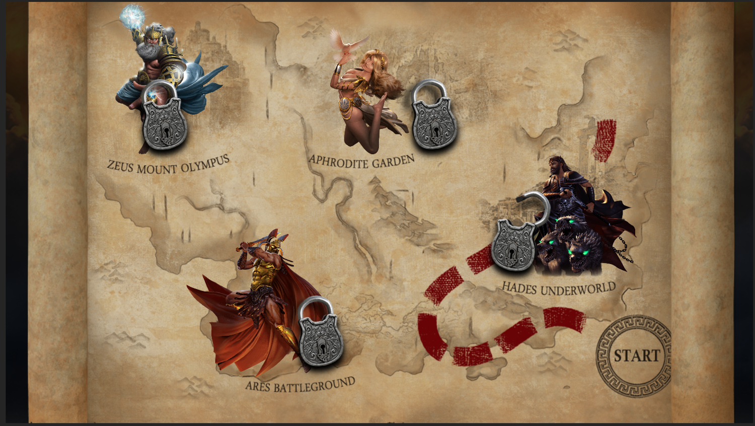 Demi Gods II Map of bonuses