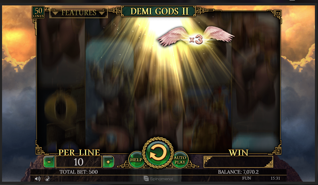 Demi Gods Multiplier feature