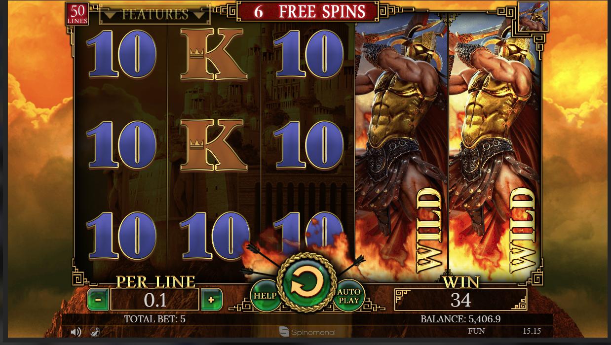 Demi Gods II Ares bonus round