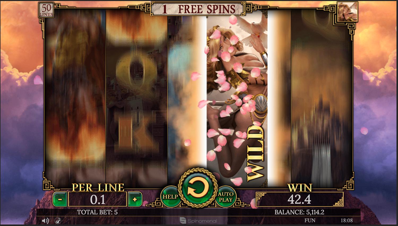 Demi Gods II Aphrodite bonus round