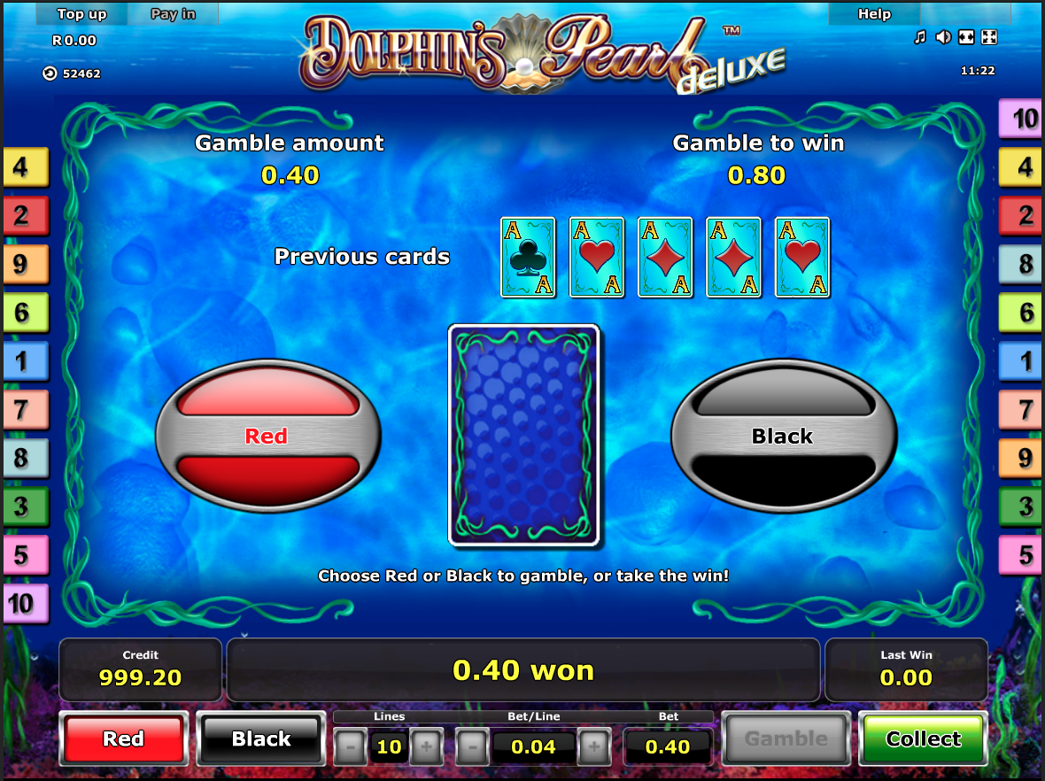 Dolphin's Pearl Deluxe gamble function