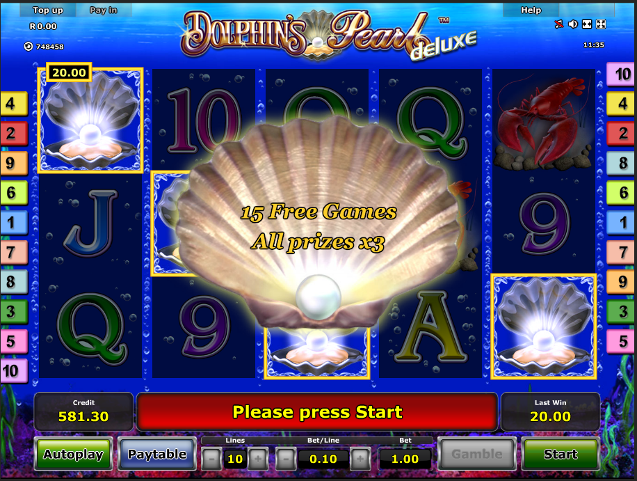 Dolphin's Pearl Deluxe Free spins