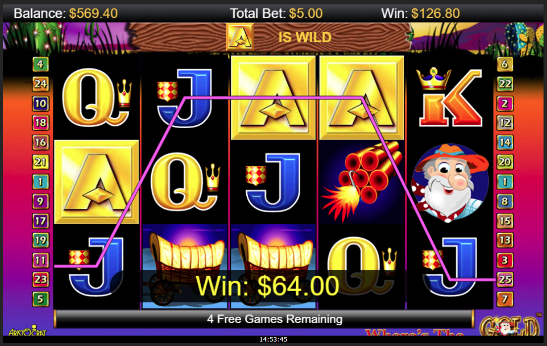 A as a Wild symbol in free spins