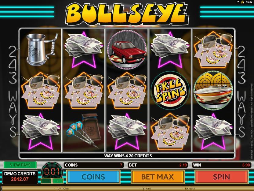 Bullseye multiple winlines