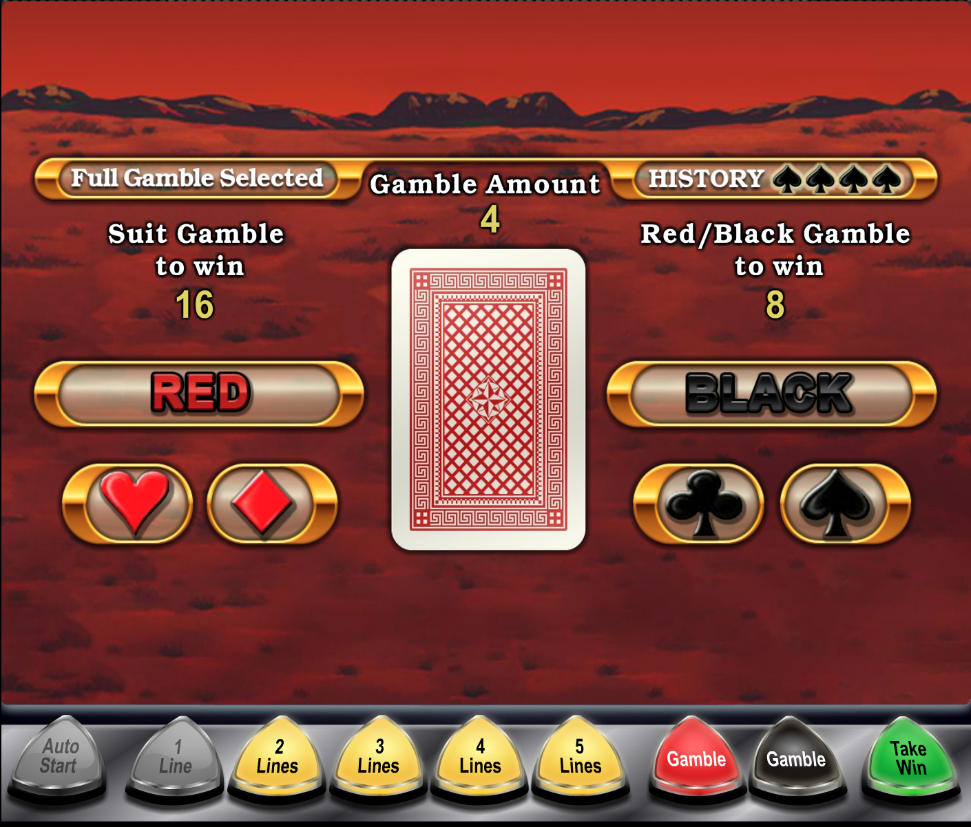 Big Red Gamble feature