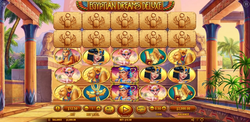 Egyptian Dreams Deluxe Free Play in Demo Mode and Game Review