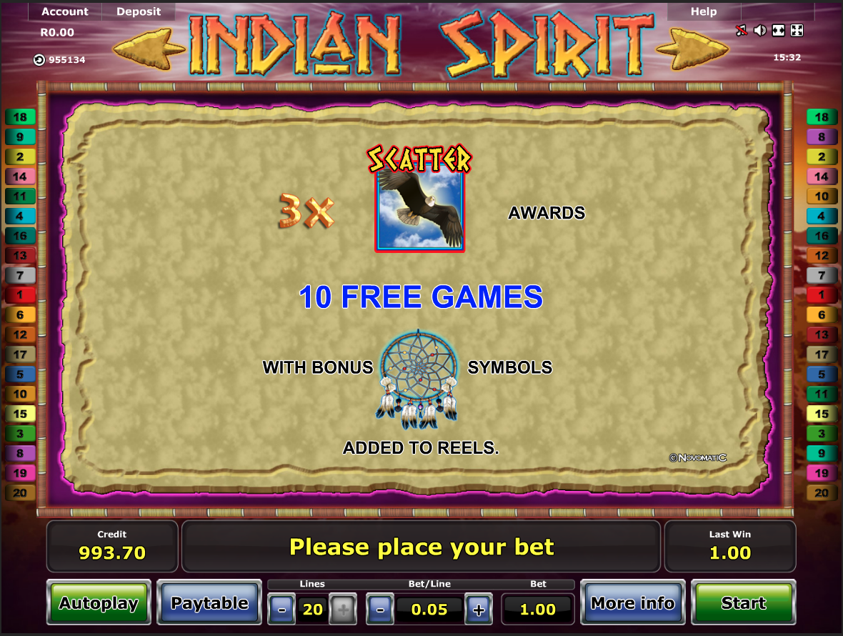 Indian Spirit free spins