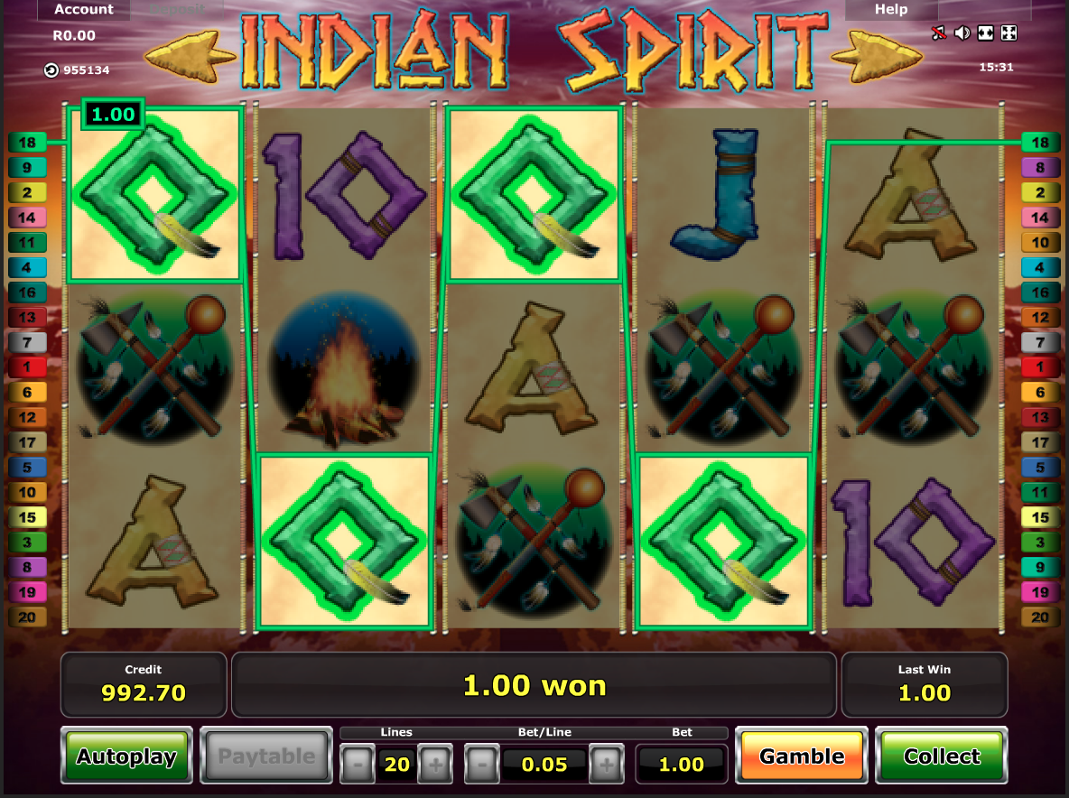 Indian Spirit simple win