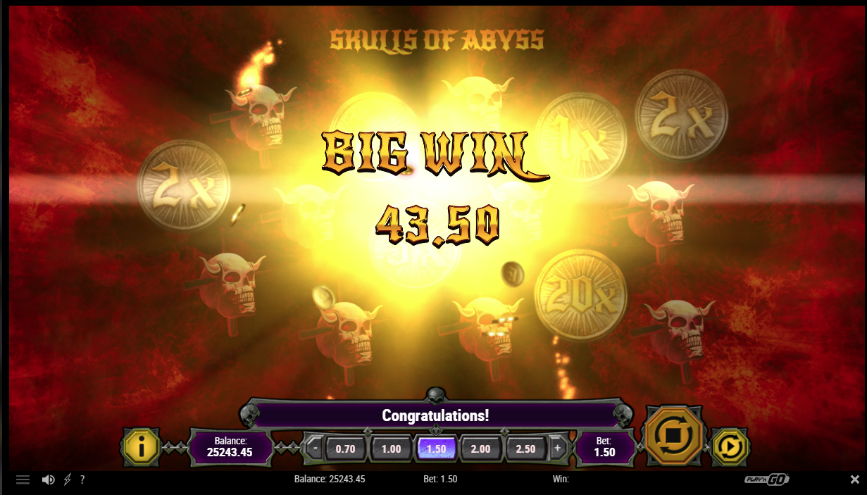 Skulls of Abyss big win