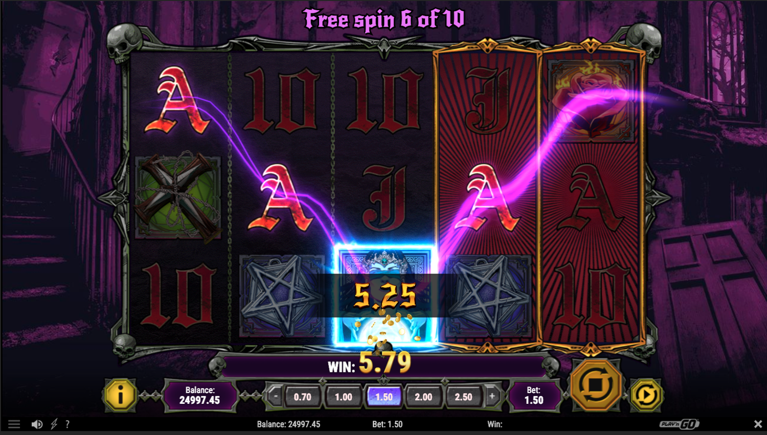 House of Doom - Free spins win