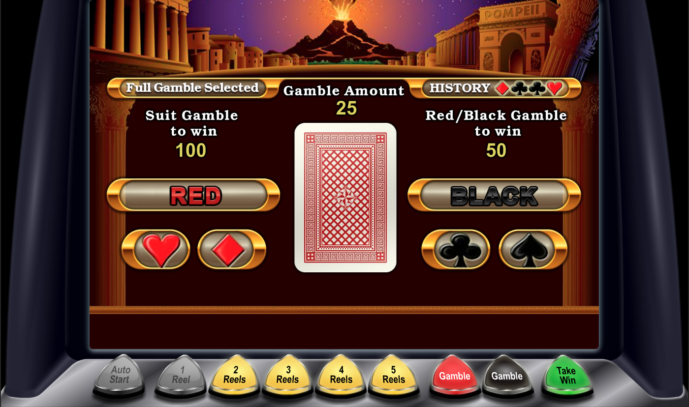 Pompeii slot - gamble function