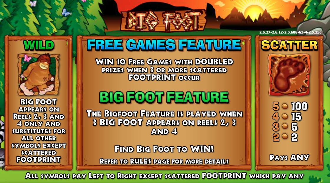 Bigfoot features