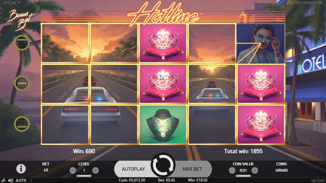 Hotline - expanding wild symbol win