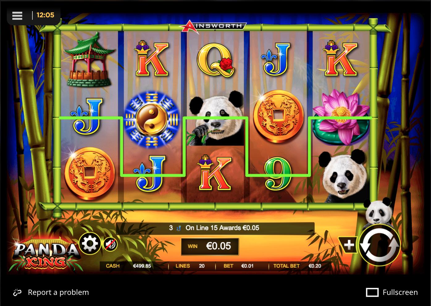 Panda King - simple win