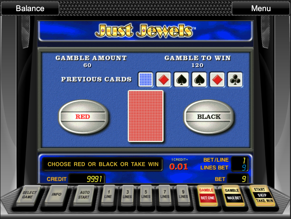 Just Jewels gamble function