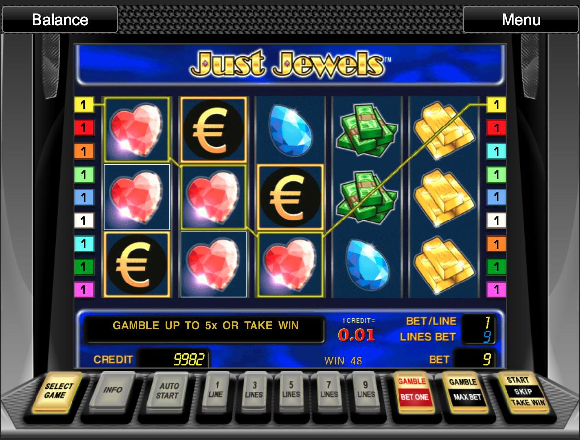 Just Jewels slot win
