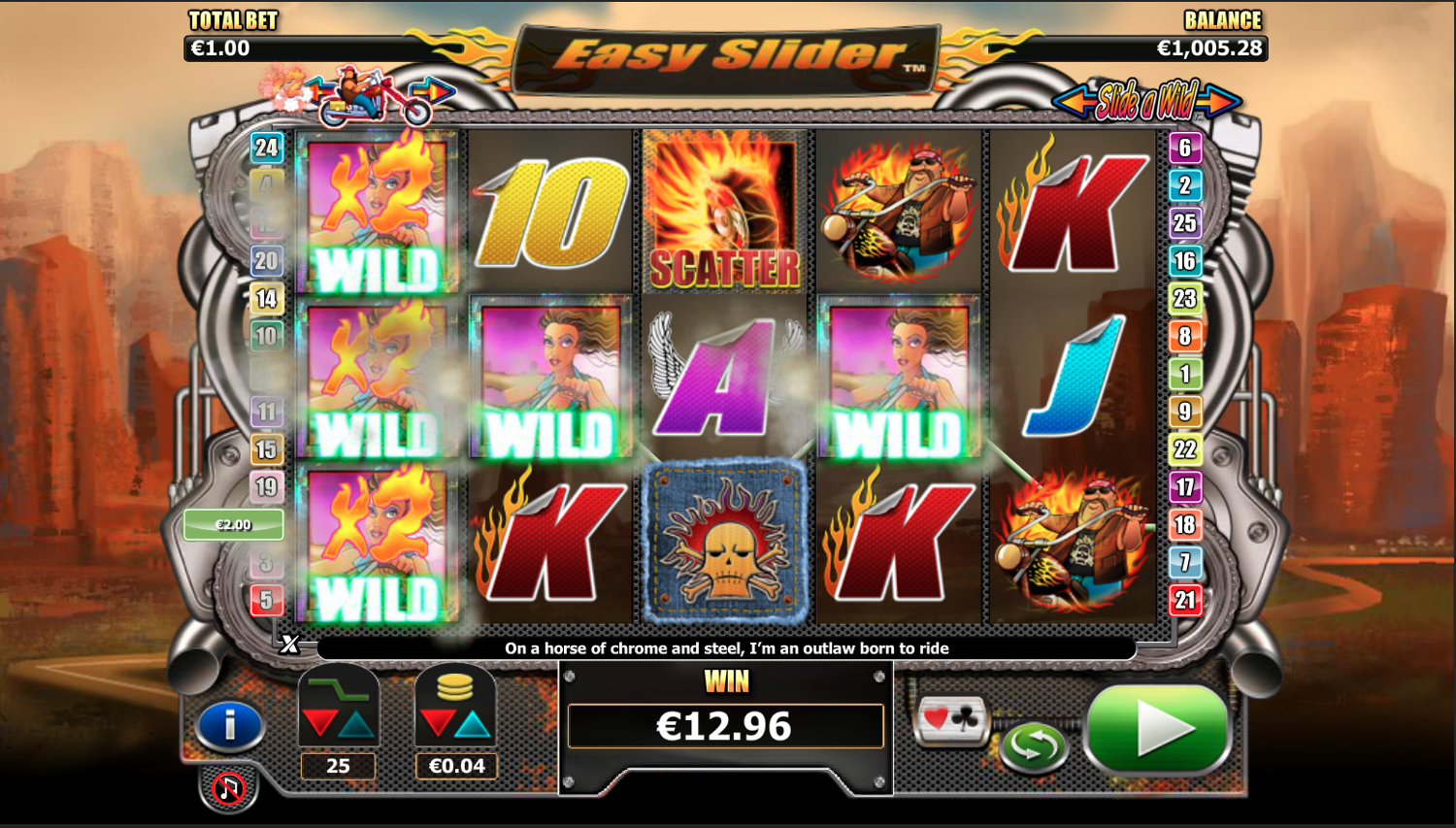 Easy Slider slot machine