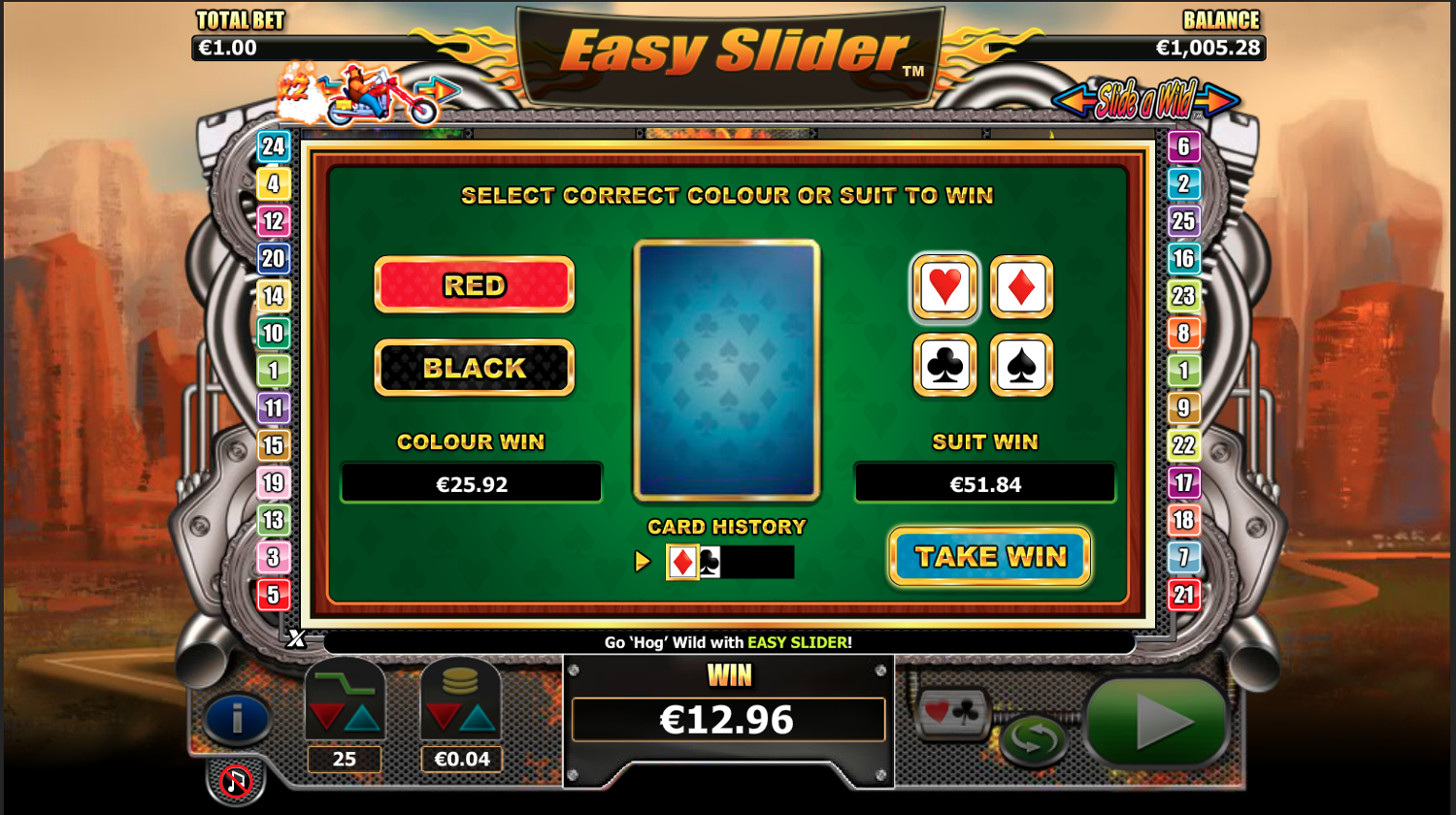 Easy Slider gamble feature
