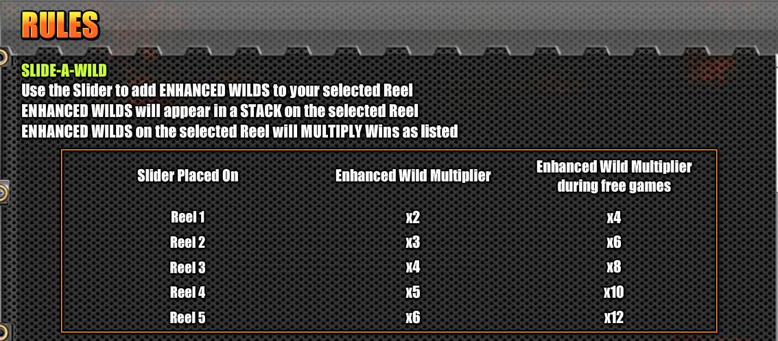 Easy Slider Slide-a-wild rules