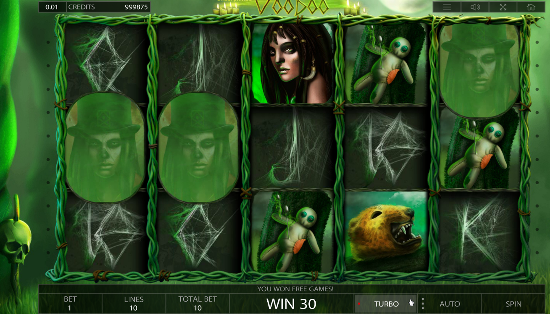 Voodoo slot free spins