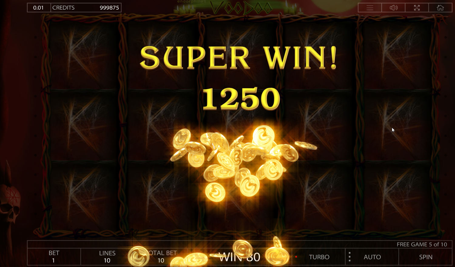 Voodoo slot Super Win