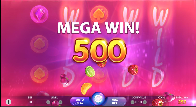 Berryburst Mega win
